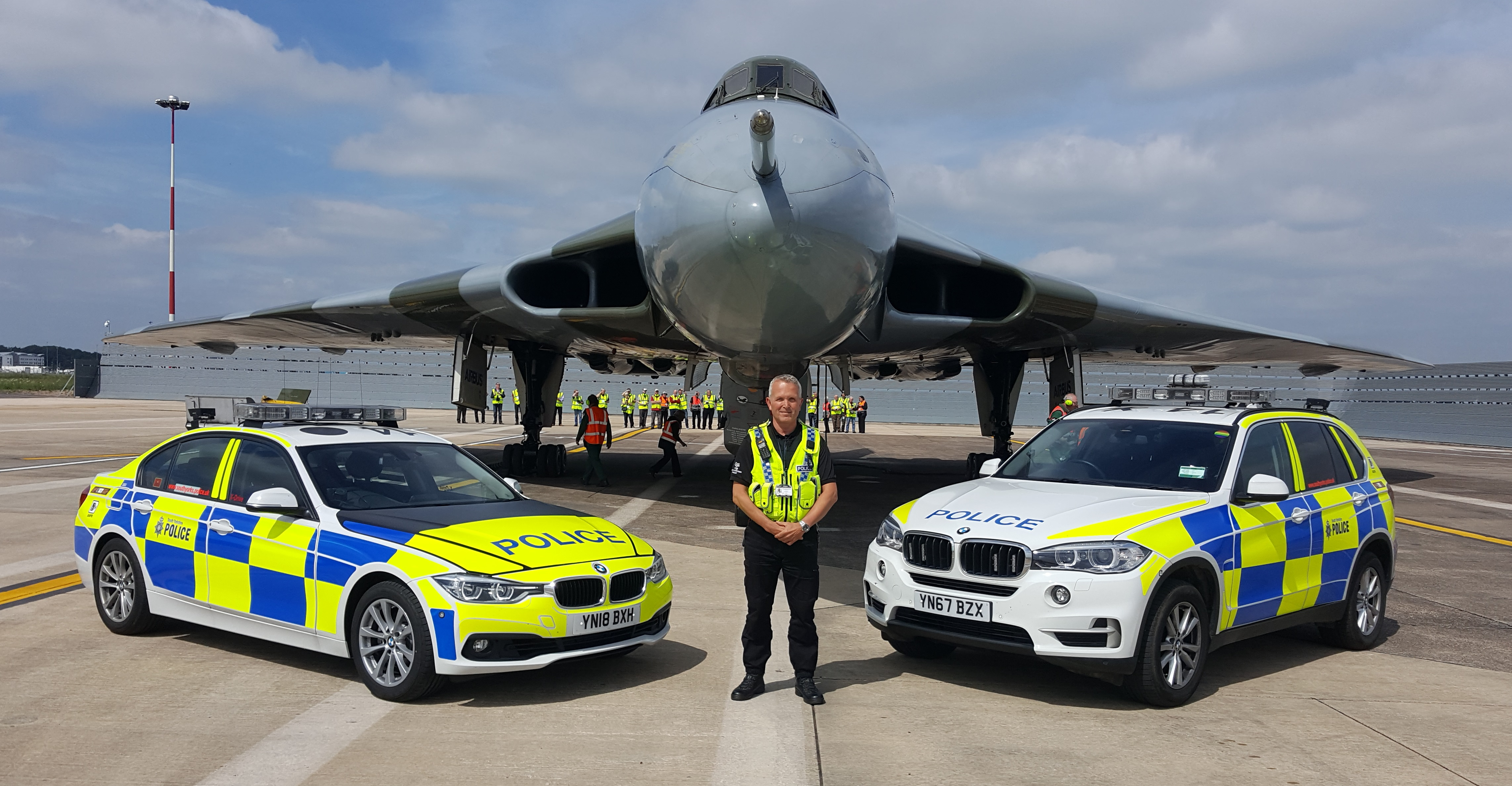 Sergeant Andy Whittaker at Doncaster Sheffield Airport