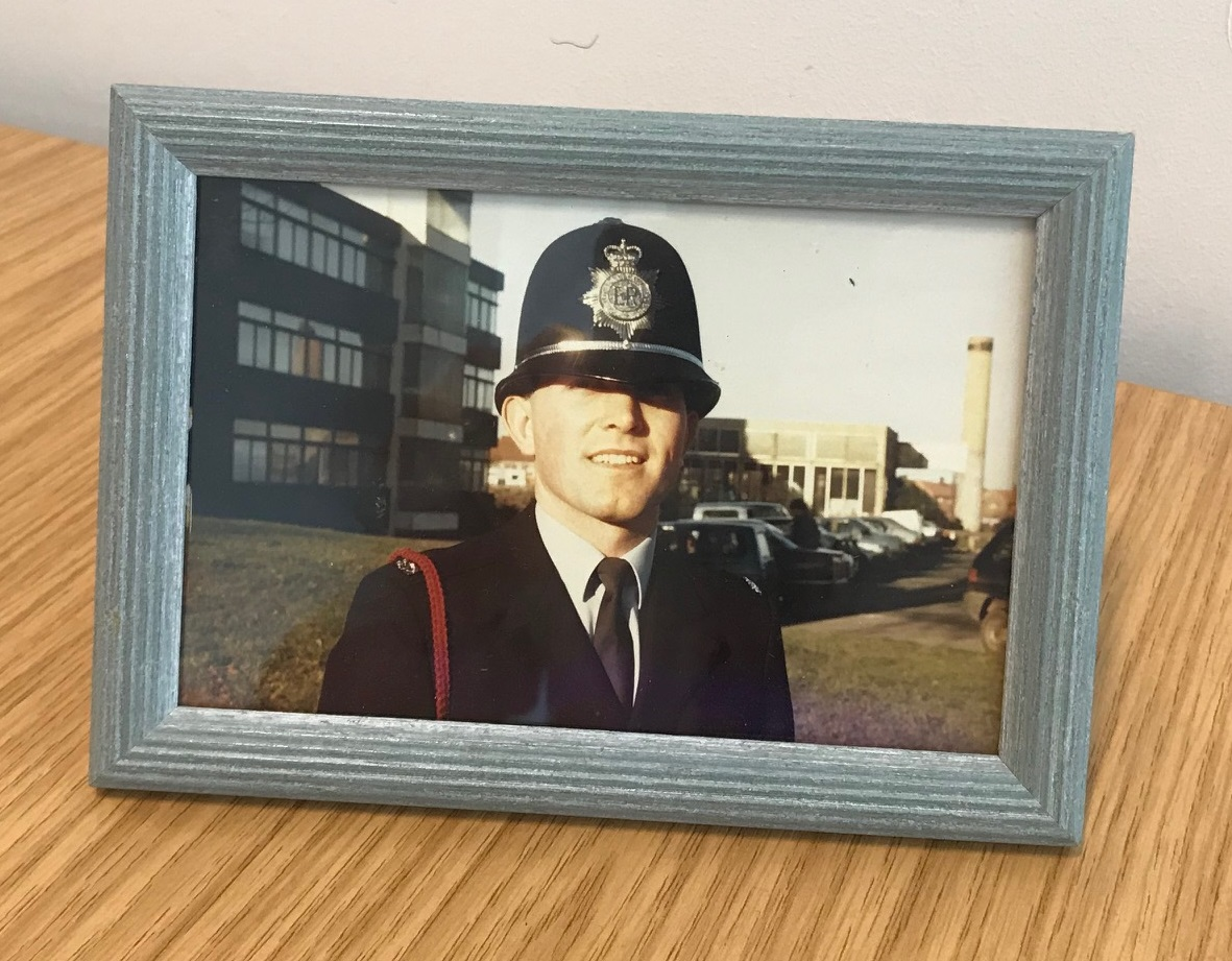 A junior Andy Whittaker early in his policing career with SYP