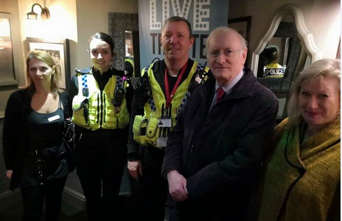 Colleagues from Rotherham Central Neighbourhood Policing Team with Police and Crime Commissioner Alan Billings
