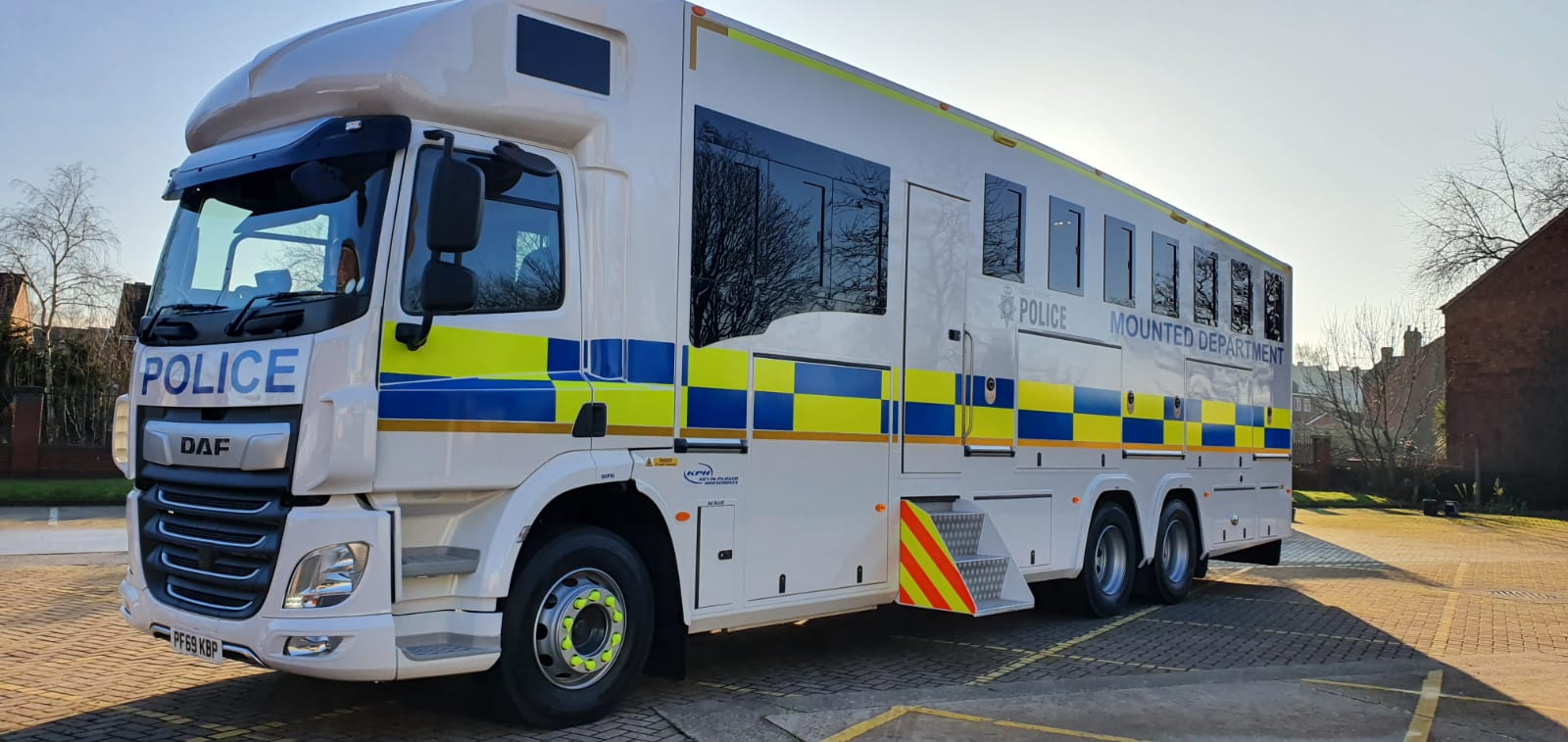 The new horsebox for our VIP horses